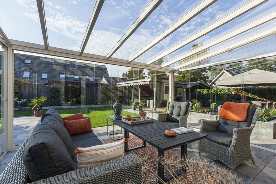 Glass Roof On Veranda