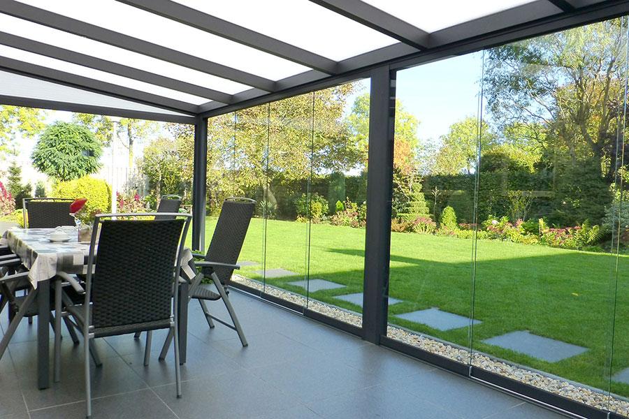 Glass Sliding Doors On Veranda